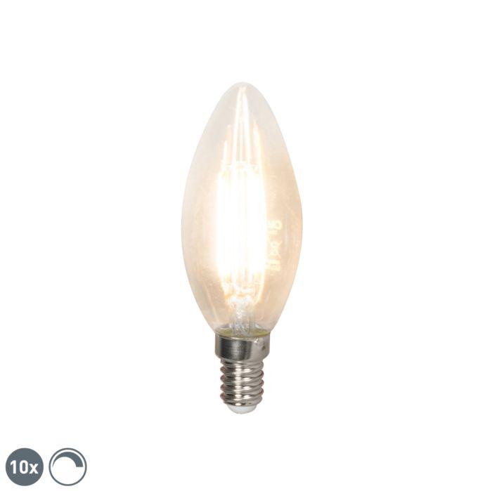 10-šviesos-diodų-kaitinamosios-žvakės-lempos-rinkinys-E14-240V-3,5-W-350lm-B35-pritemdomas