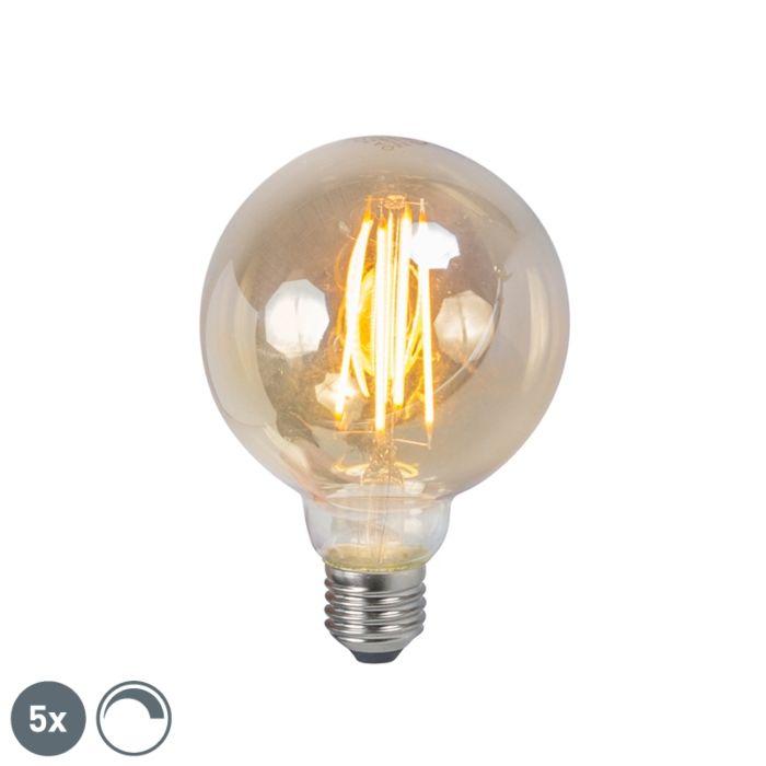 5-reguliuojamų-E27-LED-kaitinamųjų-dūmų-lempos-rinkinys-5W-450lm-2200K