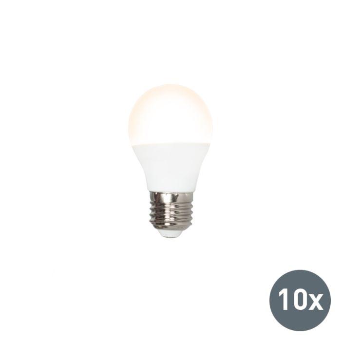 10-LED-lempučių-P45-E27-3W-3000K-rinkinys