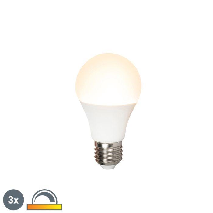 3-LED-lempučių-rinkinys-E27-240V-7W-510lm-A60-pritemdomas