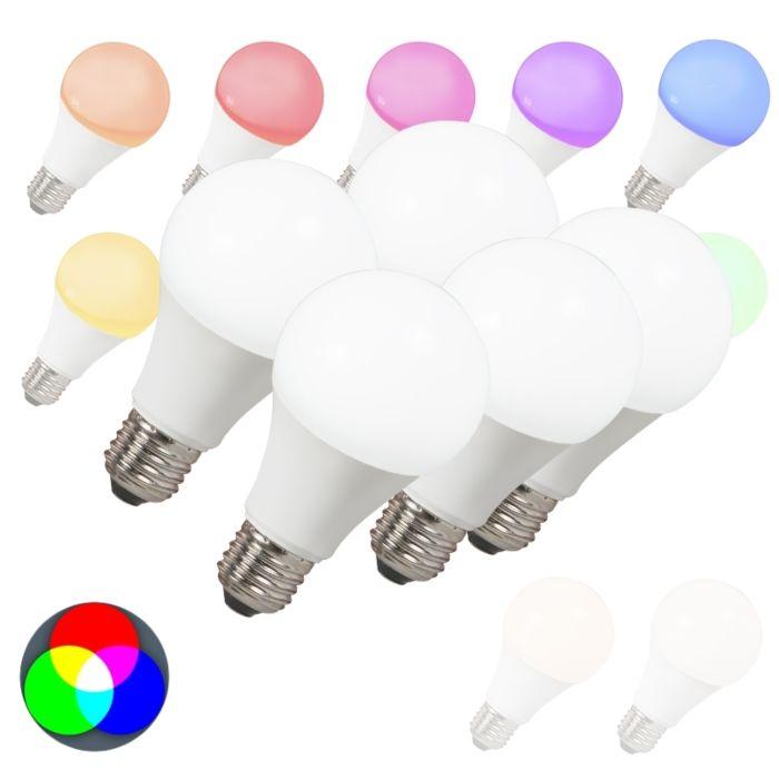 5-LED-lempučių-rinkinys-E27-240V-7W-500lm-A60-Smart-Light