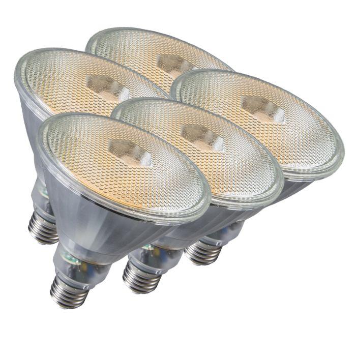 5-lempučių-Par38-E27-20W-800LM-2700K-rinkinys
