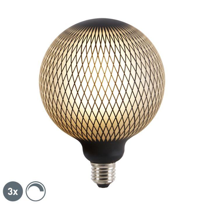 3-reguliuojamų-E27-LED-gaubtinių-lempų-rinkinys-DECO-4W-180-lm-2700K