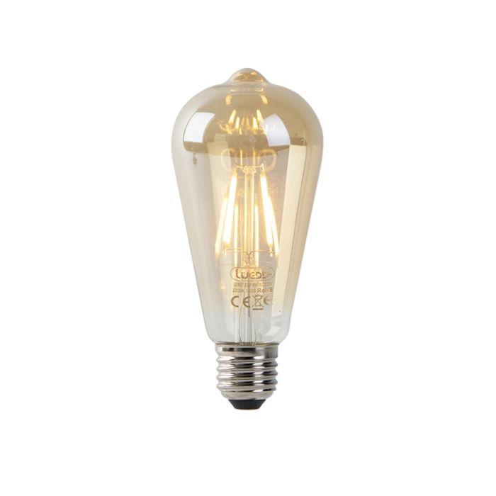 LED-gija-ST64-4W-2200K-auksinė-su-šviesiai-tamsiu-jutikliu