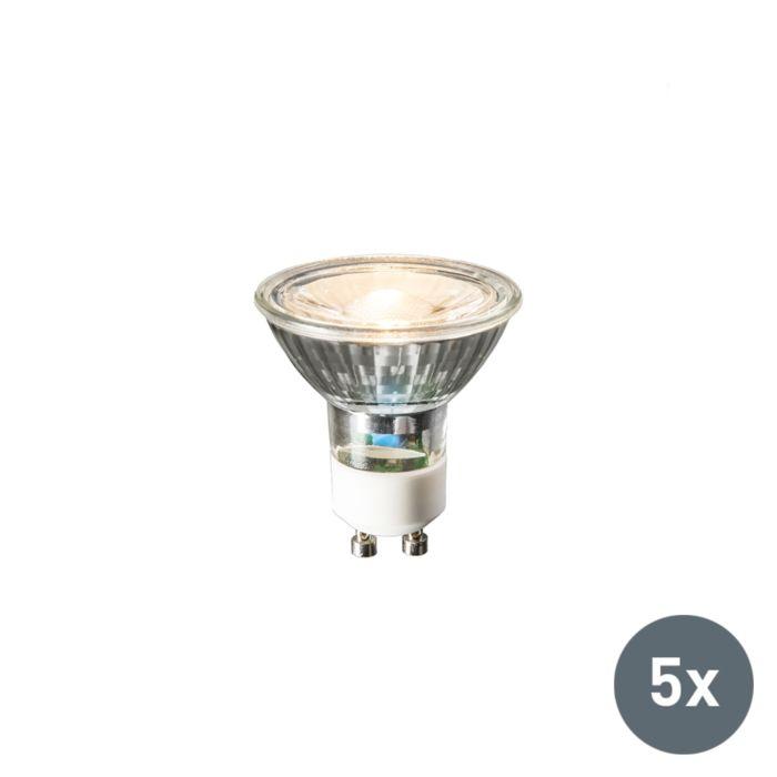 5-GU10-LED-lempos-rinkinys-240V-3W-230lm-šiltai-baltas