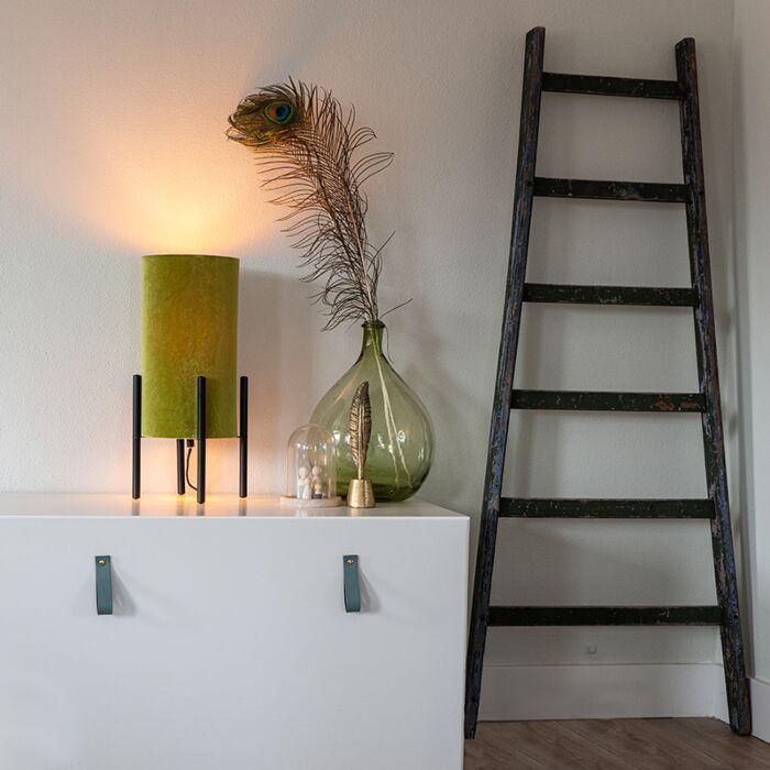 Dizaino-stalinė-lempa-juoda-aksomo-atspalvio-žalia-su-auksu---turtinga