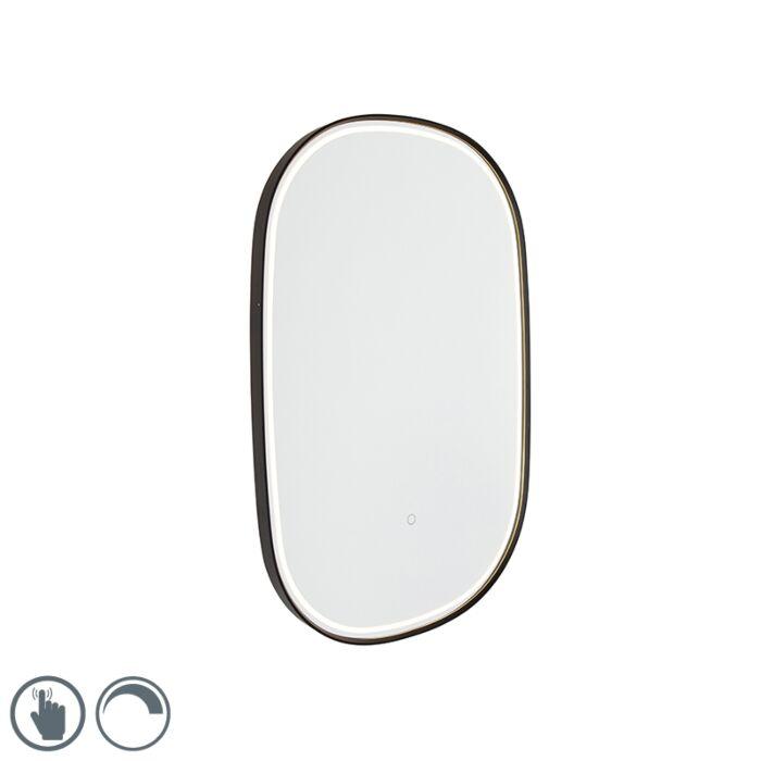 Vonios-veidrodis-juodas-su-šviesos-diodu-su-ovaliu-prisilietimu---Miral