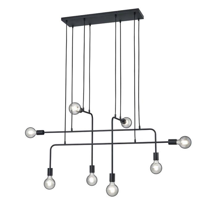 Moderni-pakabinama-lempa-juoda-8-žibintų---Tibo