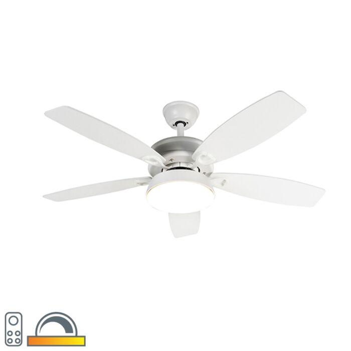 Dizaino-lubų-ventiliatorius-baltas-su-LED-su-nuotolinio-valdymo-pultu---Malaki