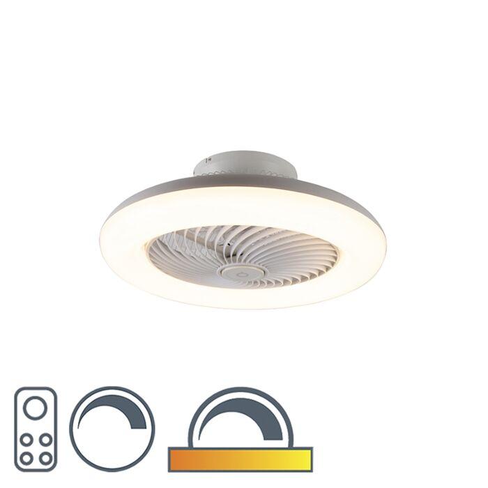 Dizaino-lubų-ventiliatorius-baltas-su-LED-pritemdomu---Clima