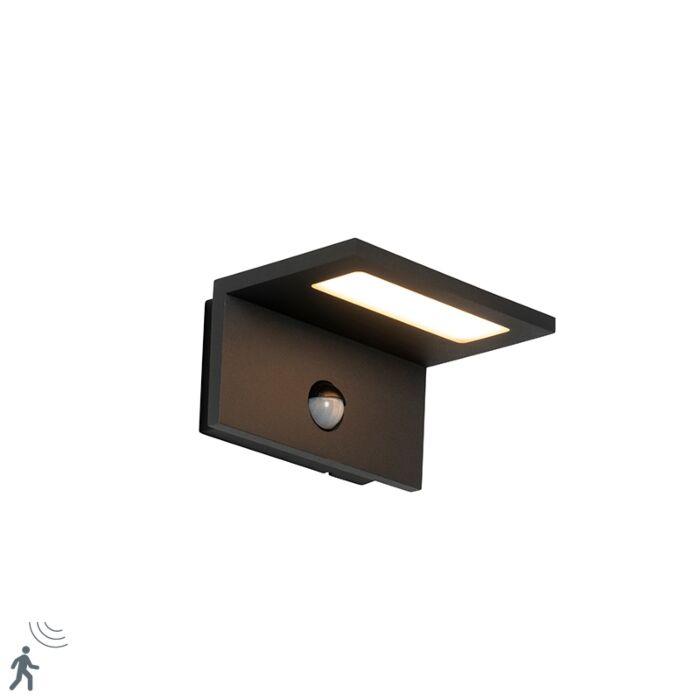 Lauko-sieninė-lempa-pilka-su-LED-IP54-judesio-jutikliu---Harvey