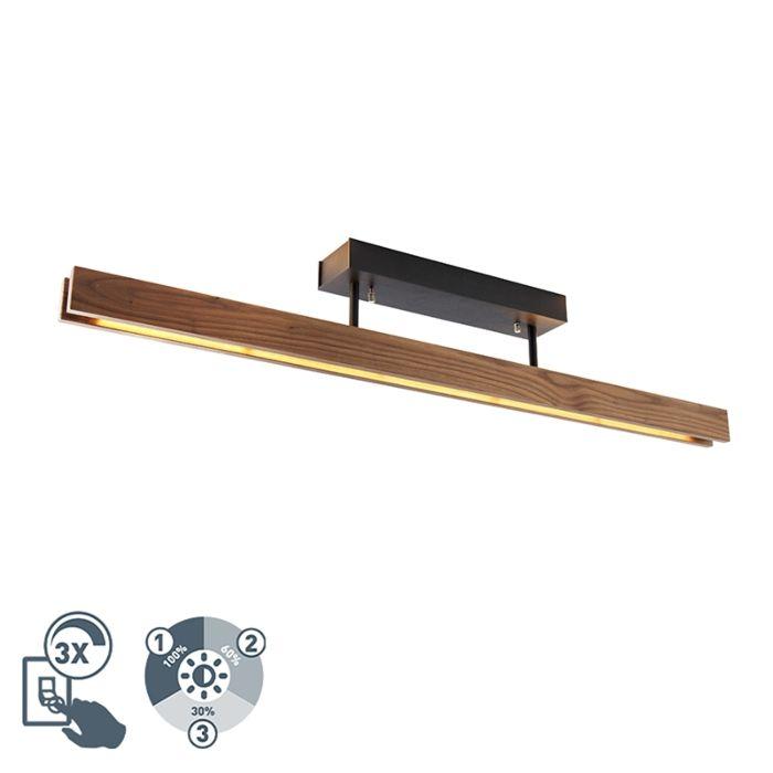 Šalies-lubų-šviestuvo-mediena,-įskaitant-LED-3-pakopų-pritemdymą---Holz