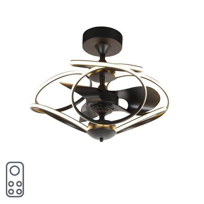 Dizaino-lubų-ventiliatorius-juodas-su-nuotolinio-valdymo-pulteliu-su-LED---Kauv
