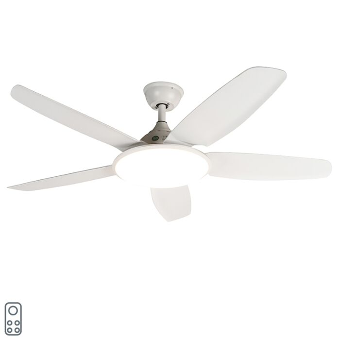 """Baltas-lubinis-ventiliatorius-su-nuotolinio-valdymo-pulteliu---""""Vifte"""""""