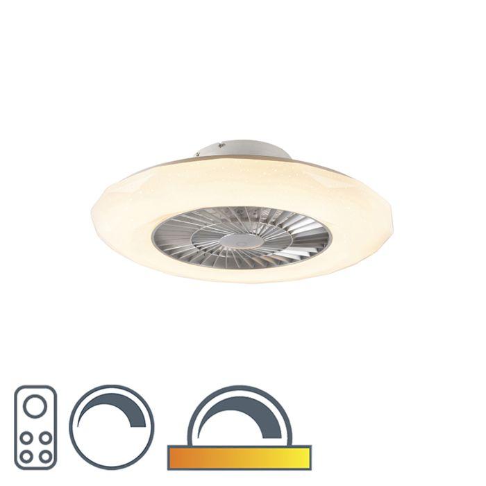 """Sidabrinis-lubinis-ventiliatorius-su-šviesos-diodais-su-žvaigždės-efektu---""""Clima"""""""
