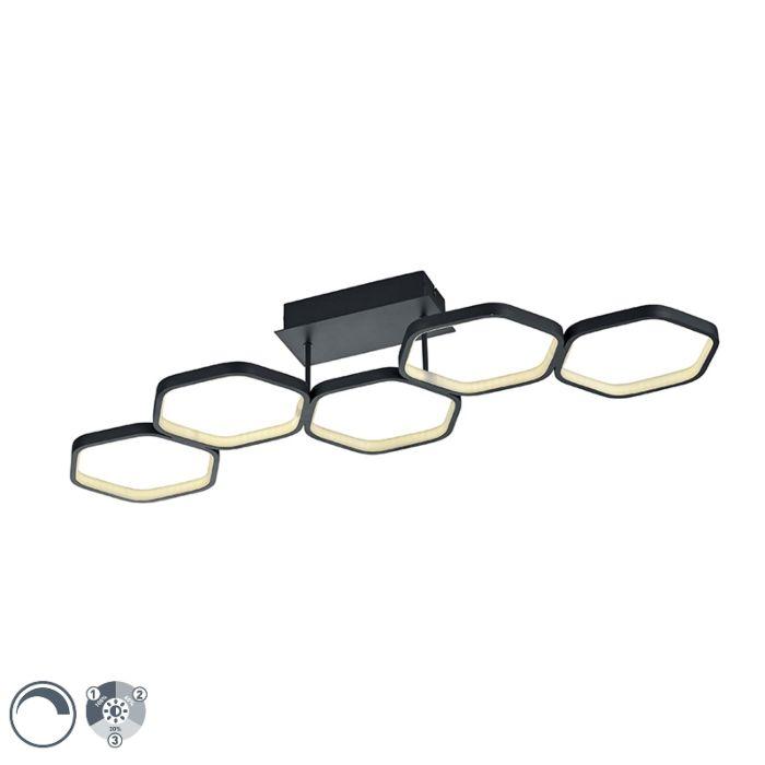 """Šiuolaikinė-lubų-lempa-pilka,-įskaitant-3-pakopų-šviesos-diodą---""""Jetse"""""""