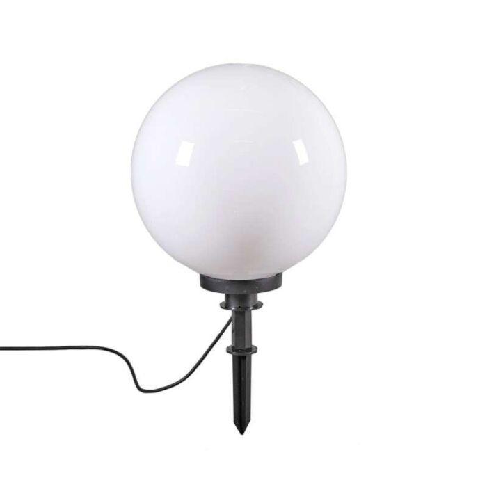 Šiuolaikinė-lauko-lempa-su-žemės-smaigaliu-40-cm-IP44---rutulys