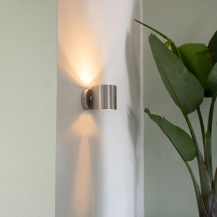 Šiuolaikinė-aliuminio-apvali-sieninė-lempa---efektas