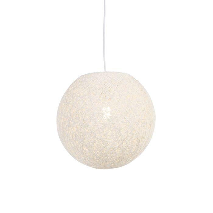 Užmiesčio-pakabinama-lempa-balta-35-cm---Corda