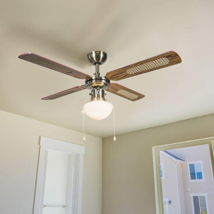 Pramoninis-lubų-ventiliatorius-su-100-cm-medienos-lempa---vėjas