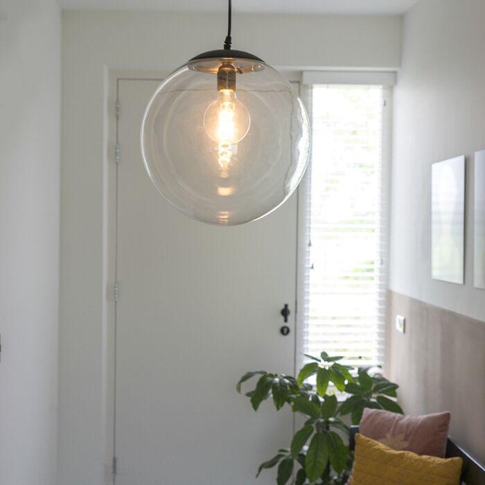 Šiuolaikinė-pakabinama-lempa-permatoma-35-cm---Pallon