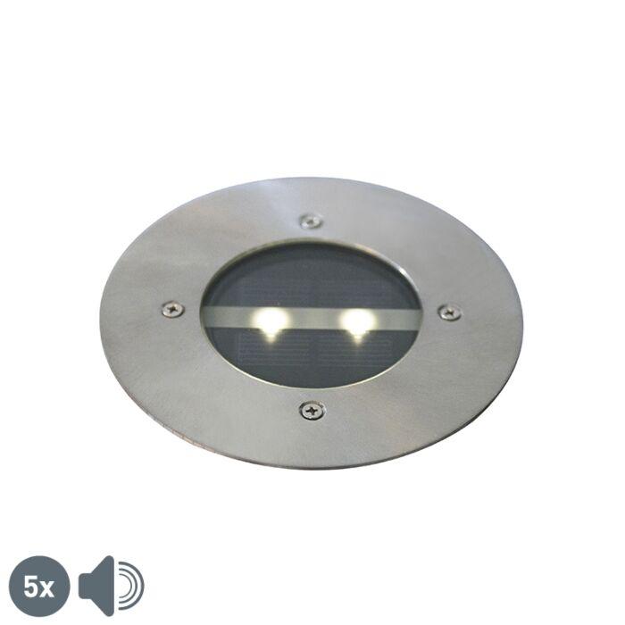 """Penkių-modernių-antžeminių-plienų-IP44-saulės-rinkinys---""""Tiny"""""""