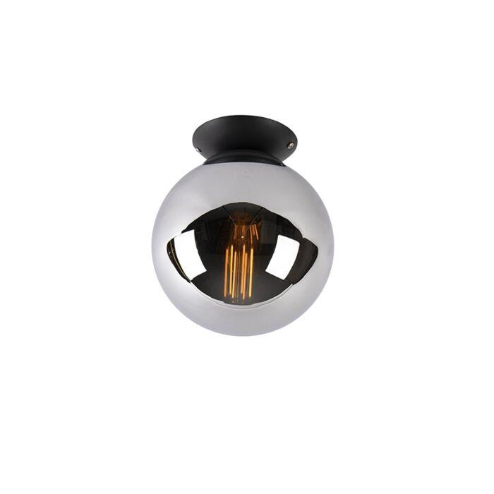 Art-deco-lubų-lempa-juoda-su-dūminiu-stiklu---Pallon