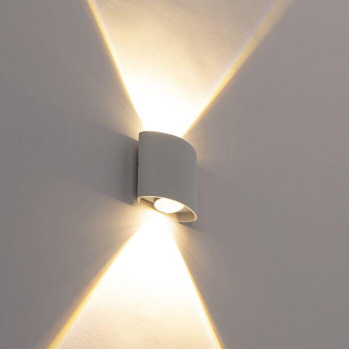 Dizaino-lauko-sieninė-lempa-sidabro-su-LED-2-žibintais---Silly