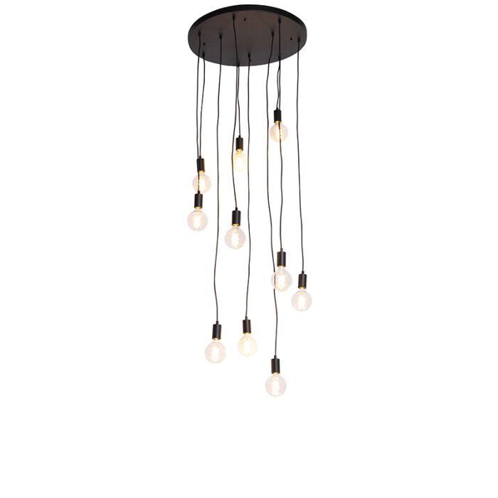 "Moderni-pakabinama-lempa,-juoda-60-cm-10-lempučių---""Facil"""