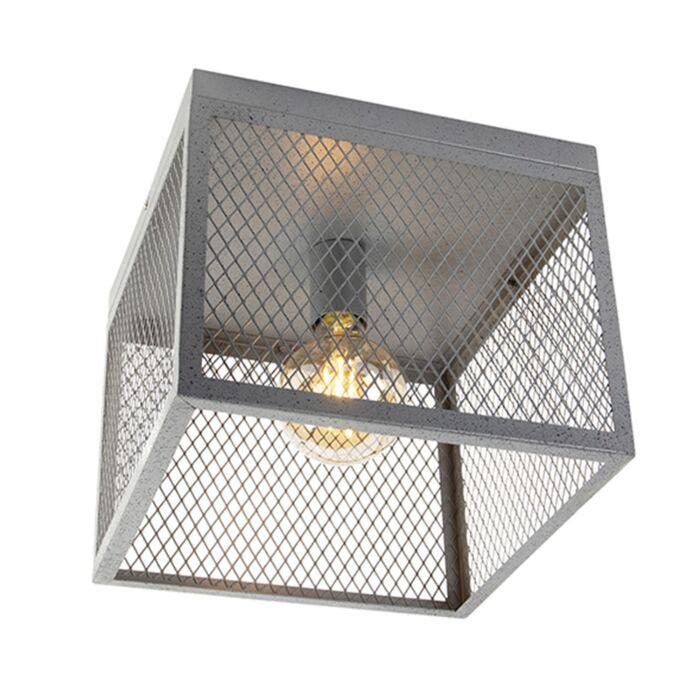 """Pramoninis-lubinis-šviestuvas,-antikvarinis-sidabras---""""Cage-Robusto"""""""